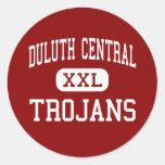Central de Duluth - Trojan - alta - Duluth Etiqueta Redonda