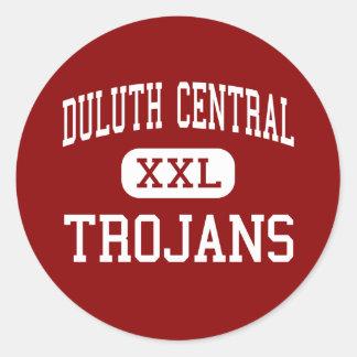 Central de Duluth - Trojan - alta - Duluth Pegatina Redonda