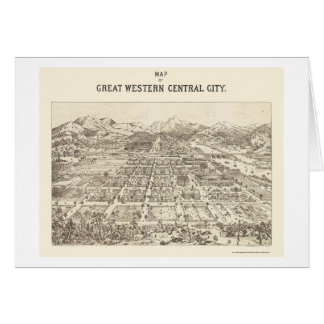 Central de Great Western, mapa panorámico del CO - Tarjeta De Felicitación