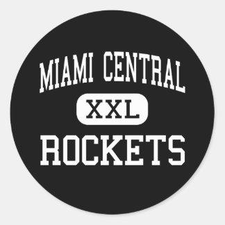 Central de Miami - Rockets - alta - Miami la Pegatina Redonda