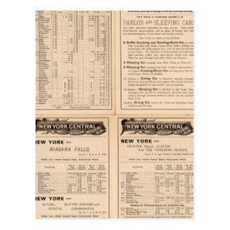 Central de Nueva York y ferrocarril 2 del río Huds Tarjeta Postal