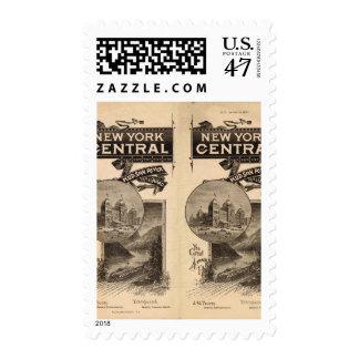 Central de Nueva York y ferrocarril del río Hudson Timbre Postal