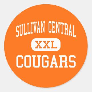 Central de Sullivan - pumas - alta - Blountville Pegatinas Redondas