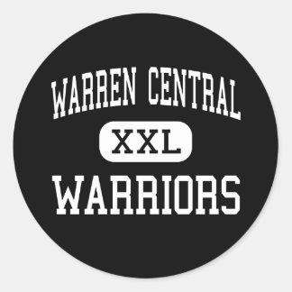 Central de Warren - guerreros - alta - Pegatina Redonda