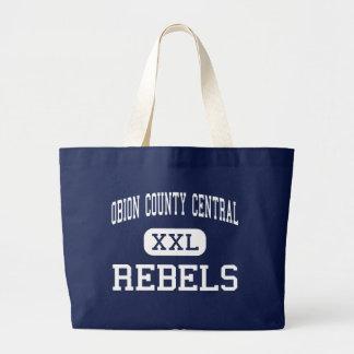 Central del condado de Obion - rebeldes - alta - T Bolsa De Tela Grande