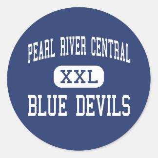 Central del río Pearl - diablos azules - Carriere Etiqueta