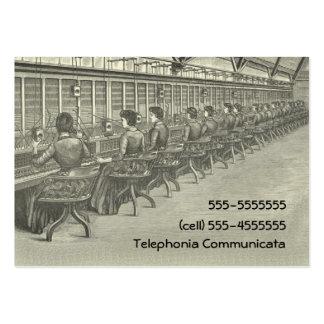 Central del teléfono del vintage tarjetas de visita
