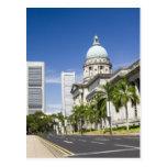 Central district of Singapore Postcard