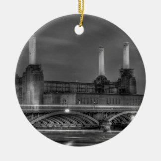 Central eléctrica de Battersea del paso de los Adorno Navideño Redondo De Cerámica