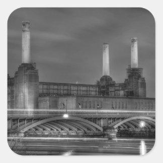Central eléctrica de Battersea del paso de los Pegatina Cuadrada