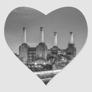 Central eléctrica de Battersea del paso de los Pegatina En Forma De Corazón