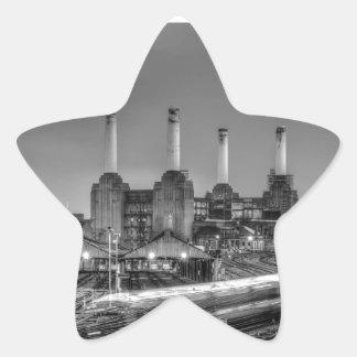Central eléctrica de Battersea del paso de los Pegatina En Forma De Estrella