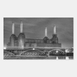 Central eléctrica de Battersea del paso de los Pegatina Rectangular