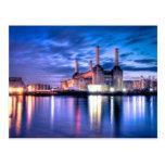 Central eléctrica de Battersea en la noche Tarjeta Postal