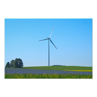 Central eléctrica de energía eólica - foto fotografía
