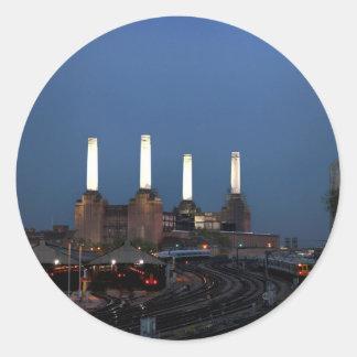 Central eléctrica de Londo Pegatina Redonda