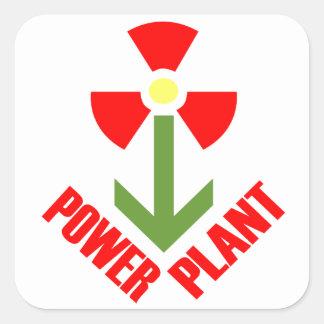 central eléctrica pegatina cuadrada