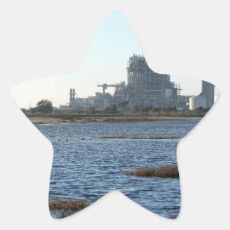 Central eléctrica pegatina en forma de estrella