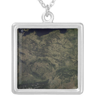 Central Europe Square Pendant Necklace