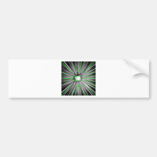Central explosion of dynamic lines car bumper sticker