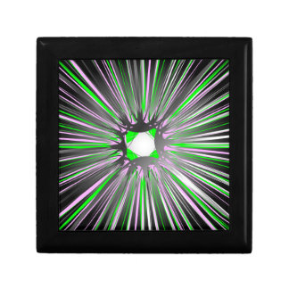 Central explosion of dynamic lines jewelry box