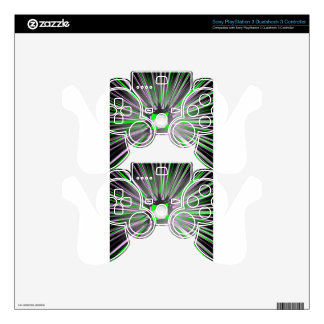 Central explosion of dynamic lines PS3 controller skins