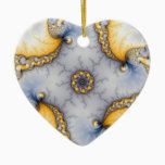 Central - Fractal Art Ceramic Ornament