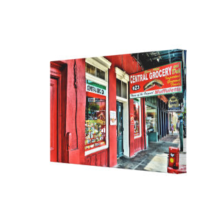 Central Grocery in the French Quarter Canvas Print
