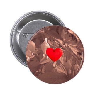 Central Heart Pinback Button
