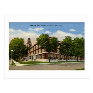 Central High School Ypsilanti Michigan - Vintage Postcard