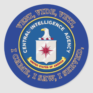 Central Intelligence Agency Shield Classic Round Sticker