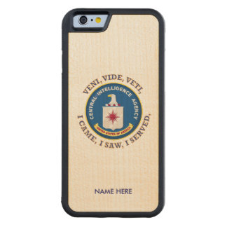 Central Intelligence Agency Shield Carved® Maple iPhone 6 Bumper Case