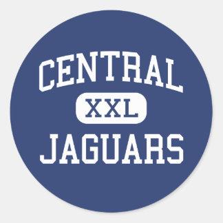Central - Jaguars - High School - Milton Florida Round Stickers