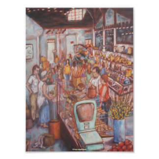 Central Market in Lancaster City Fine Art Poster Photographic Print