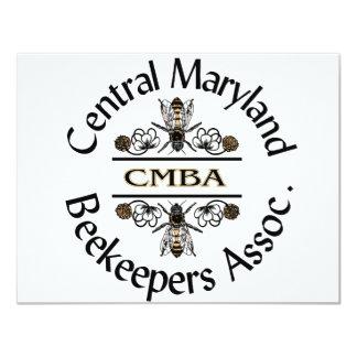 Central Maryland Beekeepers Logo Custom Invites