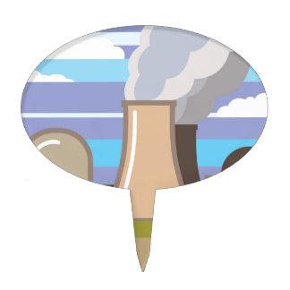 Central nuclear palillos de tarta