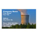 Central nuclear plantilla de tarjeta de negocio