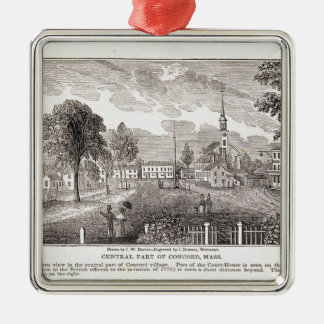 Central of Concord, from 'Historical Square Metal Christmas Ornament
