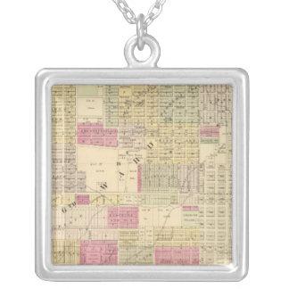 Central Omaha, Nebraska Square Pendant Necklace