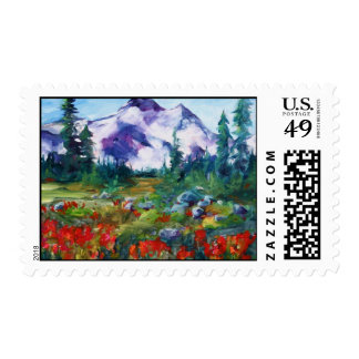 Central Oregon Indian Paintbrush Postage Stamp