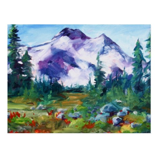 central Oregon Indian Paintbrush Postcard