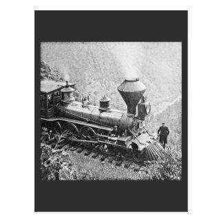 Central Pacific Railroad Cape Horn CA Locomotive Post Cards