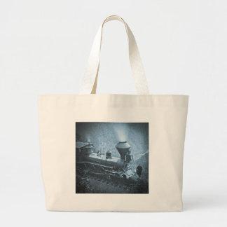 Central Pacific Railroad Cape Horn California Large Tote Bag