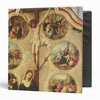 Central panel of a triptych 3 ring binder