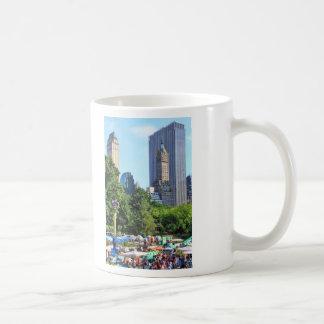 Central Park Amusement Park, Skyscraper backdrop Coffee Mug