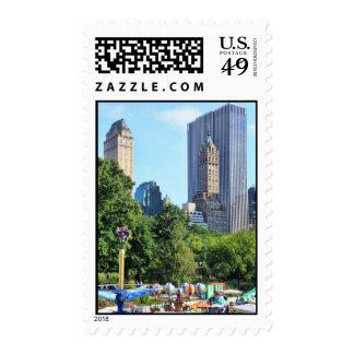 Central Park Amusement Park, Skyscraper backdrop Stamps