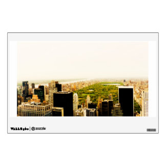 Central Park and the New York City Skyline Wall Decal