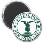 Central Park Angel 2 Inch Round Magnet
