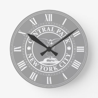 Central Park Angel Round Clock