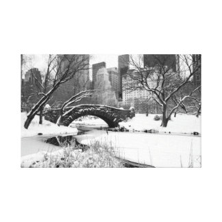 Central Park Arch in Winter - New York City Canvas Print